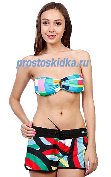 Бюстгальтер женский Rip Curl Mozaic Check Bandeau Swimming Pool
