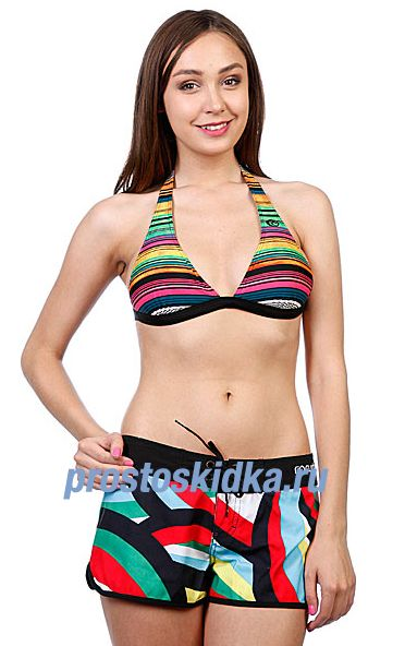 Бюстгальтер женский Rip Curl Ocean Stripes Halter Solid Black