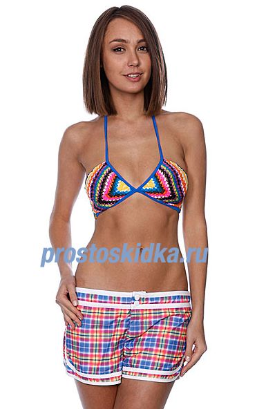 Бюстгальтер женский Roxy Bohemian Rapsody Sweetheart Bra Blue/Yellow