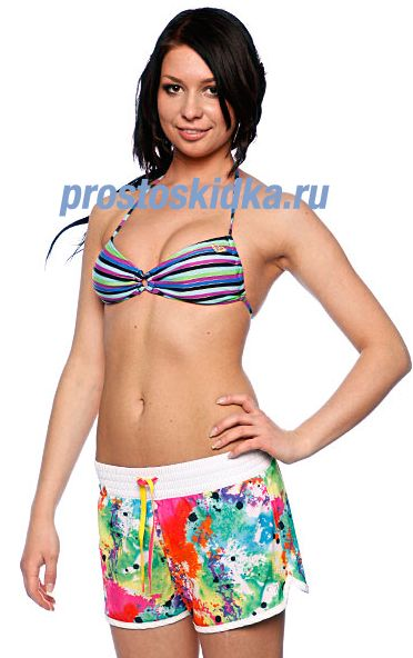 Бюстгальтер женский Roxy Easy Does It Angel Bra Purple/Blue