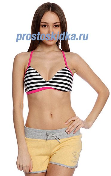 Бюстгальтер женский Roxy Flip Side Top Of Sea Salt Stripe