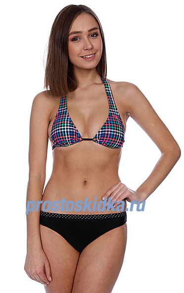Бюстгальтер женский Roxy Multimini Plaid Rio Halter Multimini Plaid