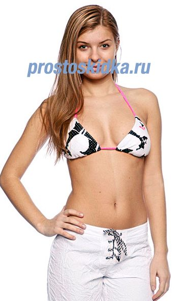 Бюстгальтер женский Roxy New Abstract Flower Tiki Tri Black New Abstract Flower