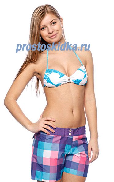 Бюстгальтер женский Roxy New Abstract Flower Angel Bra Tropic Blue