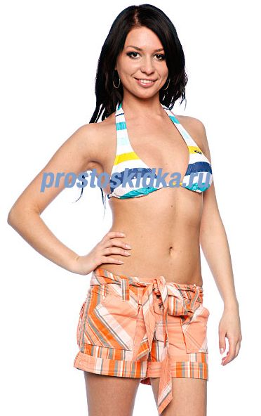 Бюстгальтер женский Roxy North Shore Rio Halter White/Green
