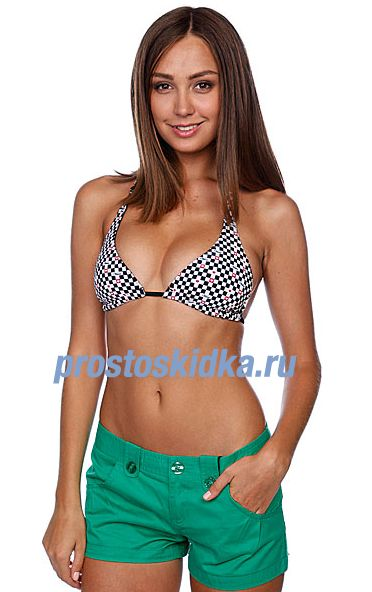Бюстгальтер женский Vans Hearts And Checkers Swim Top Onyx