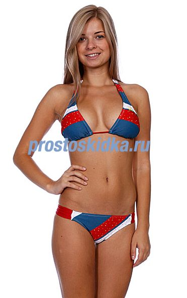 Купальник женский DC Bishop Slider Triangle Bikini Blue Haze