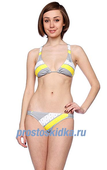 Купальник женский DC Bishop Slider Triangle Bikini First Grey