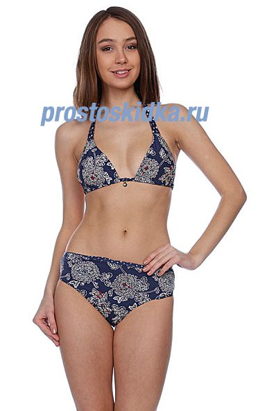 Купальник женский Quiksilver Blue Skies Floralals Minnie Roll Up Blue Skies Floral