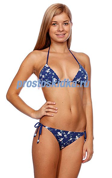 Купальник женский Quiksilver Swan Bloom Bikini Tie Sides Swan Bloom