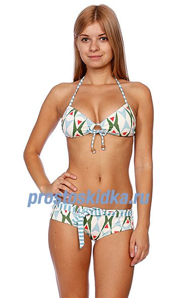 Купальник женский Quiksilver Tiki Tile Baja Shorty Tiki Tile