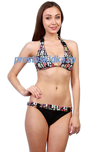Купальник женский Rip Curl Candy Halter Set Solid Black