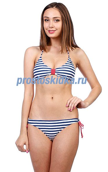 Купальник женский Rip Curl Surf Side Stripes Fixed Triang Skipper Blue