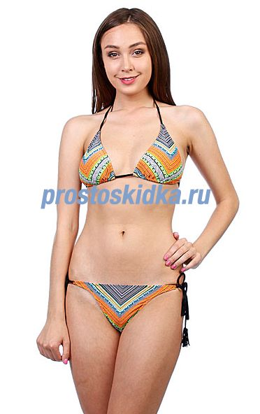 Купальник женский Rip Curl Tiki Goddess Halter Set Solid Black