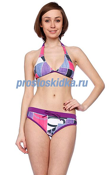 Купальник женский Roxy Baja Geometric Retro Shorty Baja Geometry Azur