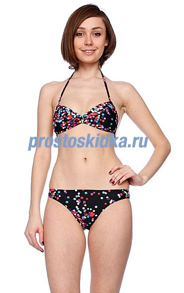 Купальник женский Roxy Blur Dots Scooter Rio Pt Black Blur Dots