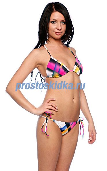 Купальник женский Roxy Fade Away Brazilian String Tie Sides White/Pink