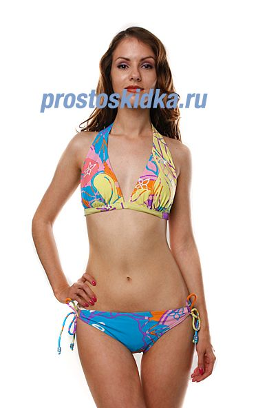 Купальник женский Roxy Hawaian High 70S Lowrider Tie Sides D-Cu Hawail High Pas