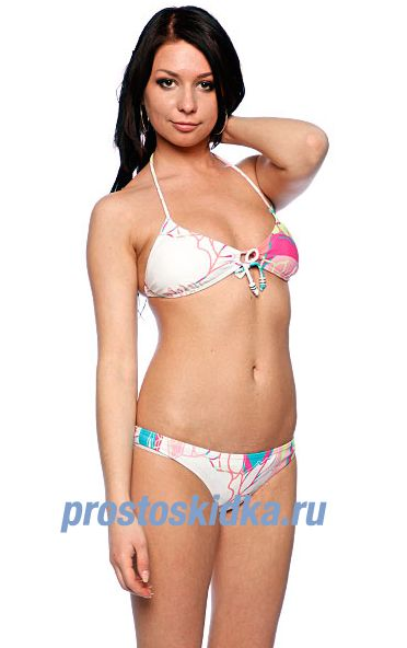 Купальник женский Roxy Hawaian High Rio Brazilian White/Green