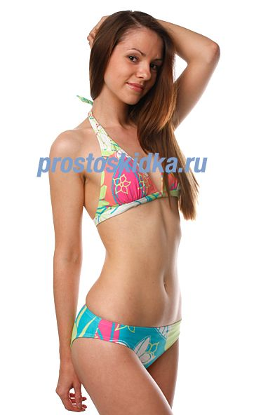 Купальник женский Roxy Hawaian High Scooter Pant D-Cup Hawaiian High J