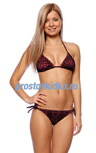 Купальник женский Roxy In The Heart Bikini Tie Sides Black