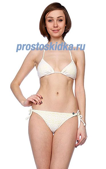 Купальник женский Roxy In The Heart Bikini Tie Sides White