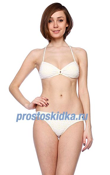 Купальник женский Roxy In The Heart Regular Pt White