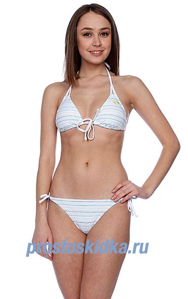Купальник женский Roxy Multi Stripe Bikini Tie Sides White Multi Strip
