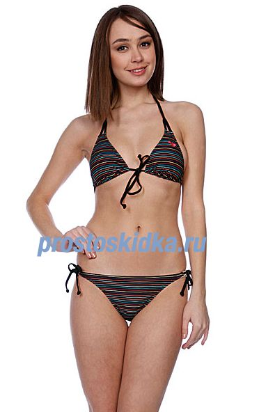 Купальник женский Roxy Multi Stripe Bikini Tie Sides Trb Multi Strip