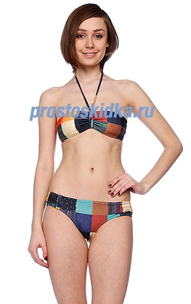 Купальник женский Roxy Peace Love Surf Smoked Boybrief Global Pattern