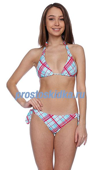 Купальник женский Roxy Plaid Knotted Scooter Pt Skb Plaid