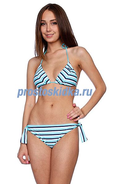 Купальник женский Roxy Regular Stripes Brazilian Tie Sides Ti Navy Regular Str