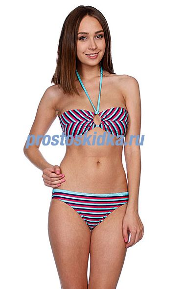 Купальник женский Roxy Regular Stripes Regular Pt Seaside Ban Brp Regular Str