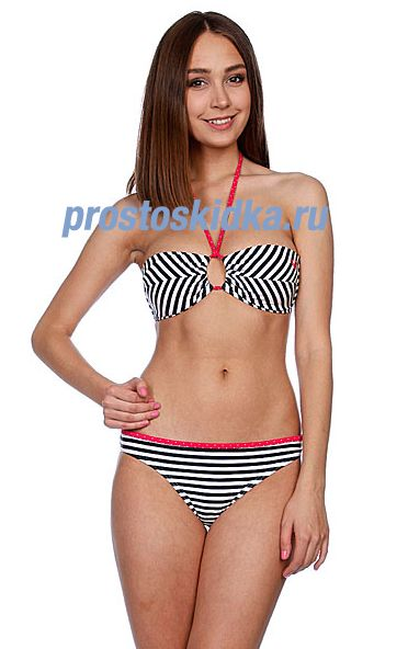Купальник женский Roxy Regular Stripes Regular Pt Seaside Ban Trb Regular Str