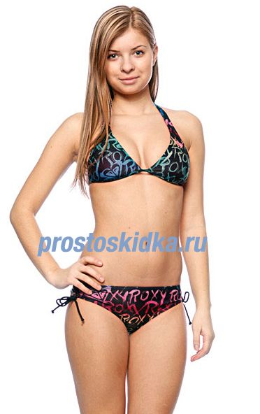 Купальник женский Roxy Roxy Jazzy Scooter Pt Tie Sides True Black