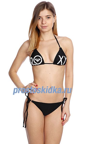 Купальник женский Roxy Tiki Tri Brazilian String True Black