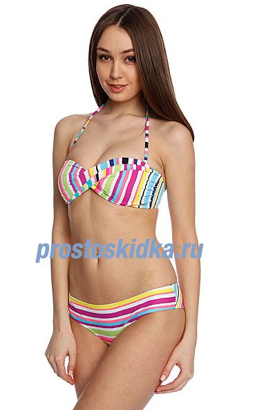 Купальник женский Roxy Twist Bandeau Cheeky Sea Salt