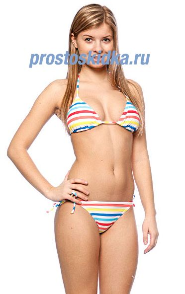 Купальник женский Roxy White Stripes Bikini Tie Sides Baja California