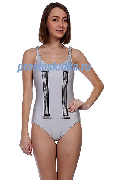 Купальник женский Stussy Elise Column One Piece Silver