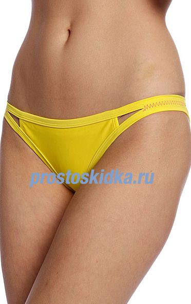 Плавки женские Roxy Flip Side Pant Of Blazing Yellow