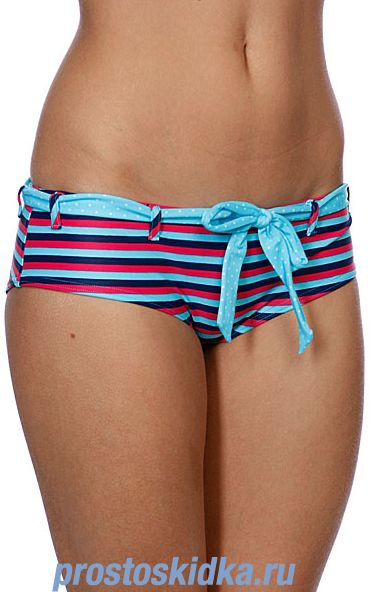 Плавки женские Roxy Regular Stripe Baja Shorty Brp Regular Str