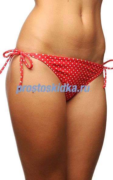 Плавки женские Roxy Stoked String Bikini Red/Blue/White