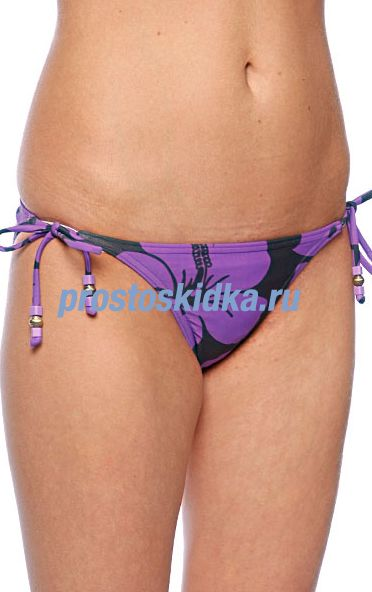 Плавки женские Roxy Surfer Soul Chacha Tie Sides Purple/Black